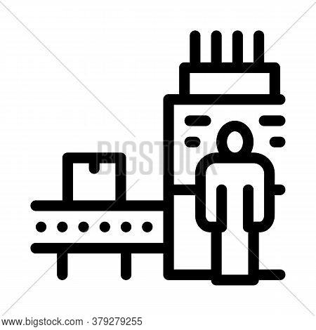 Manufacturing Machine Operator Icon Vector. Manufacturing Machine Operator Sign. Isolated Contour Sy