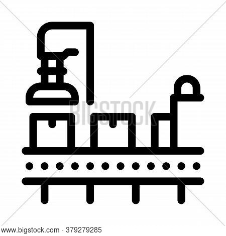 Manufacturing Process Icon Vector. Manufacturing Process Sign. Isolated Contour Symbol Illustration