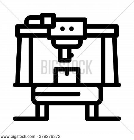 Manufacturing Machine Icon Vector. Manufacturing Machine Sign. Isolated Contour Symbol Illustration