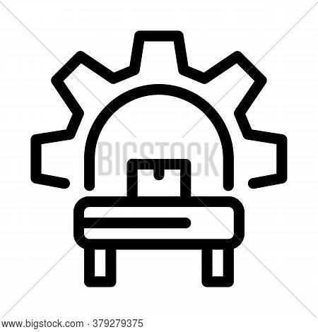 Manufacturing Equipment Icon Vector. Manufacturing Equipment Sign. Isolated Contour Symbol Illustrat