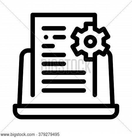 Front End Technical Tasks Icon Vector. Front End Technical Tasks Sign. Isolated Contour Symbol Illus