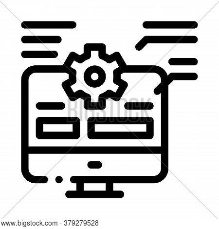 Web Site Technician Characteristics Icon Vector. Web Site Technician Characteristics Sign. Isolated
