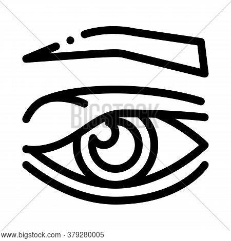 Eyelid Problem Icon Vector. Eyelid Problem Sign. Isolated Contour Symbol Illustration