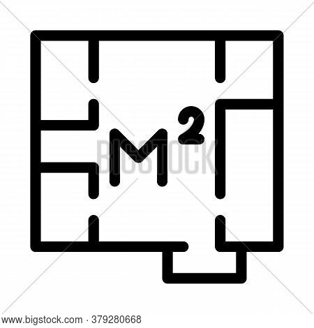 Apartment Planning Icon Vector. Apartment Planning Sign. Isolated Contour Symbol Illustration
