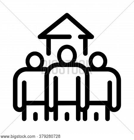 House Buy Candidates Icon Vector. House Buy Candidates Sign. Isolated Contour Symbol Illustration