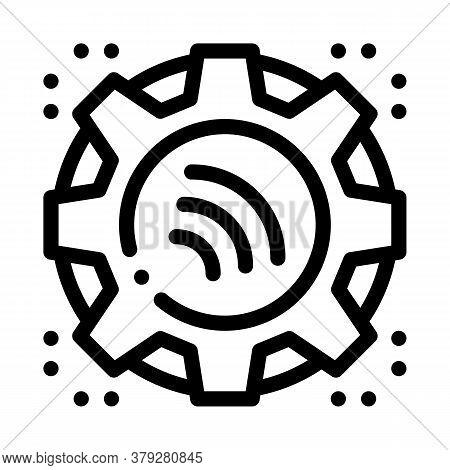 Repair Radio Signal Icon Vector. Repair Radio Signal Sign. Isolated Contour Symbol Illustration