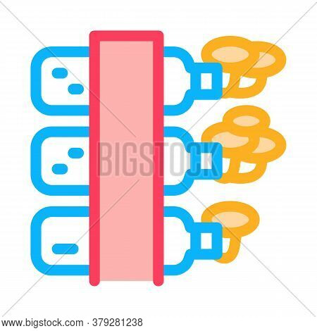 Mushroom Growing From Bottle Icon Vector. Mushroom Growing From Bottle Sign. Color Symbol Illustrati