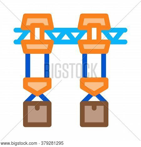 Manufacturing Transportation Icon Vector. Manufacturing Transportation Sign. Color Symbol Illustrati