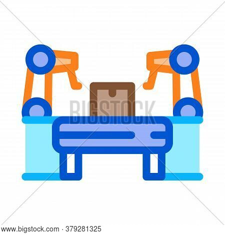 Manufacturing Automatic Equipment Icon Vector. Manufacturing Automatic Equipment Sign. Color Symbol