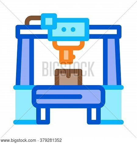 Manufacturing Machine Icon Vector. Manufacturing Machine Sign. Color Symbol Illustration