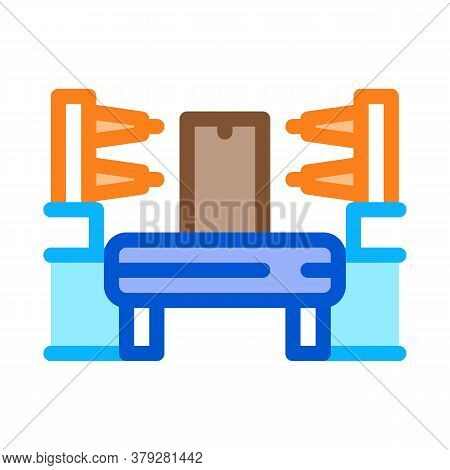 Automation Manufacturing Icon Vector. Automation Manufacturing Sign. Color Symbol Illustration