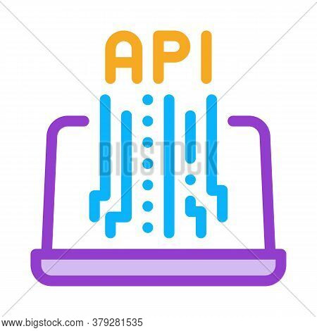 Front End Api Icon Vector. Front End Api Sign. Color Symbol Illustration