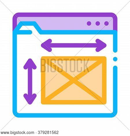 Front End Web Design Sizes Icon Vector. Front End Web Design Sizes Sign. Color Symbol Illustration