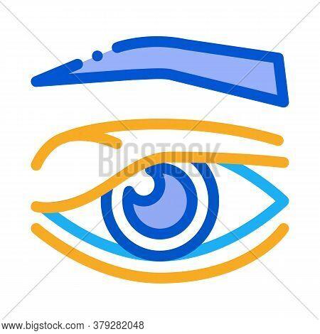 Eyelid Problem Icon Vector. Eyelid Problem Sign. Color Symbol Illustration