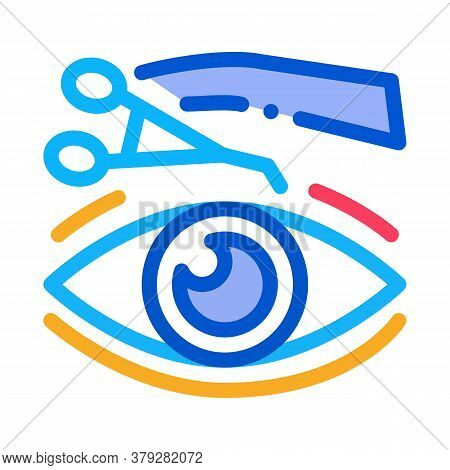 Eyelid Surgery Tool Icon Vector. Eyelid Surgery Tool Sign. Color Symbol Illustration