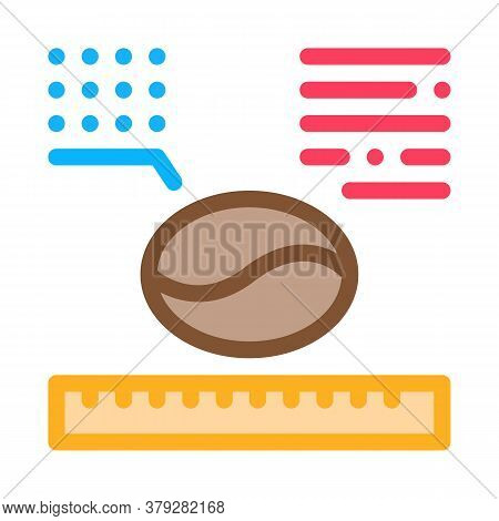 Coffee Size Icon Vector. Coffee Size Sign. Color Symbol Illustration