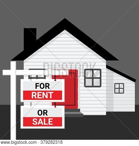 House And Real Estate For Rent Or Sale Because Of Jobless And Economic Depression Due To Pandemic Of