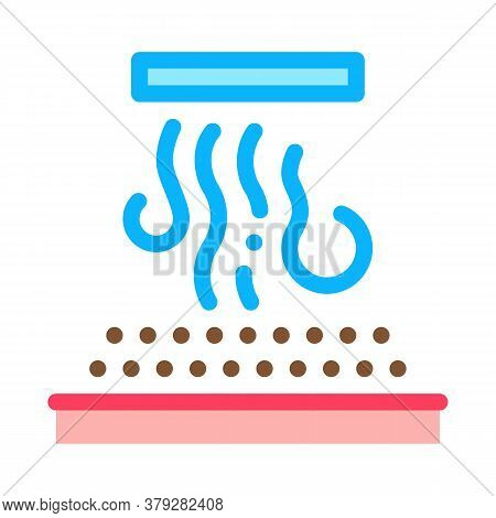 Coffee With Steam Icon Vector. Coffee With Steam Sign. Color Symbol Illustration