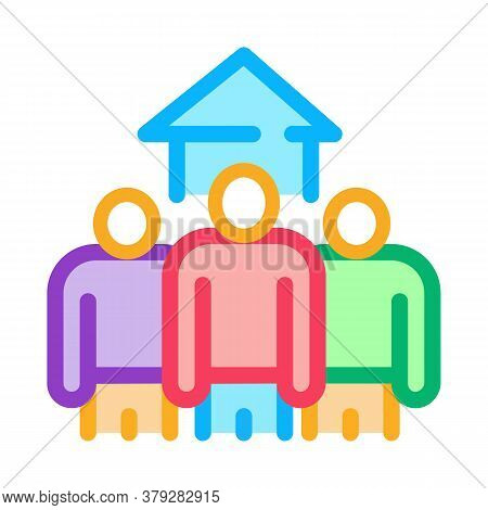House Buy Candidates Icon Vector. House Buy Candidates Sign. Color Symbol Illustration