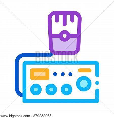 Police Radio Icon Vector. Police Radio Sign. Color Symbol Illustration