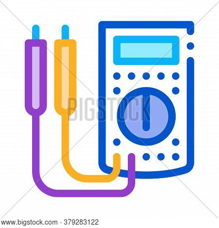 Ammeter Tool Icon Vector. Ammeter Tool Sign. Color Symbol Illustration