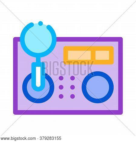 Research Broken Radio Icon Vector. Research Broken Radio Sign. Color Symbol Illustration