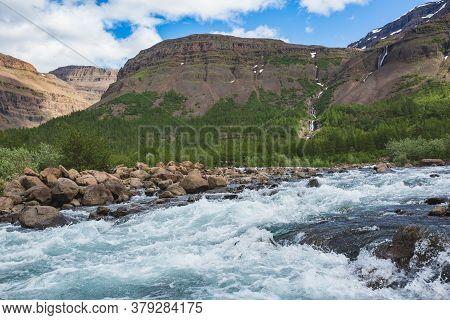 Hoisey River Gorge Of Putorana Plateau, Taimyr. Russia, Siberia