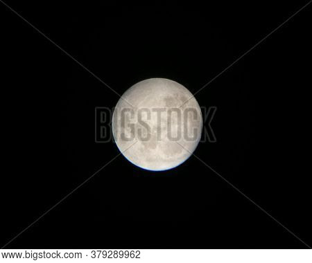 The Moon During The Full Moon On A Black Background. Full Moon Photo. Moon Through A Telescope - 35