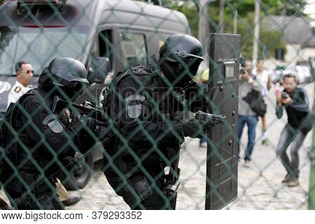 Salvador, Bahia / Brazil - August 2, 2016: Military Personnel From The Special Operations Battalion