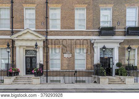 June 2020 London. Beautiful Street, Mayfair, London, England United Kindom Europe