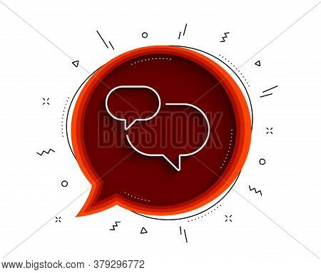 Chat Comment Line Icon. Chat Bubble With Shadow. Speech Bubble Sign. Social Media Message Symbol. Th