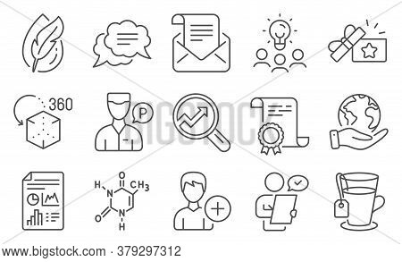 Set Of Business Icons, Such As Chemical Formula, Hypoallergenic Tested. Diploma, Ideas, Save Planet.