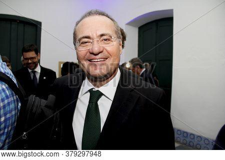 Salvador, Bahia / Brazil - April 10, 2014: Renan Calheiros, Senator Is Seen During An Event In The C