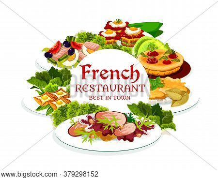 France Cuisine, Vector Breton Pancakes, Cabbage Stuffed With Meat, Quiche With Tomatoes, Sandwich Cr