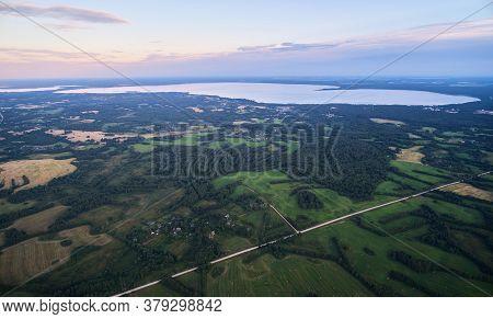 Big Lake Aerial Drone View