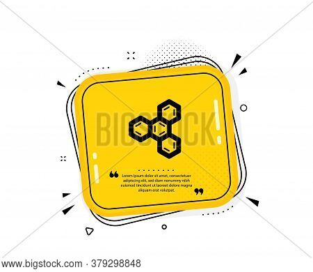 Chemical Formula Icon. Quote Speech Bubble. Chemistry Lab Sign. Analysis Symbol. Quotation Marks. Cl