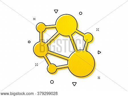 Social Network Sign. Integrity Icon. Core Value Symbol. Yellow Circles Pattern. Classic Integrity Ic