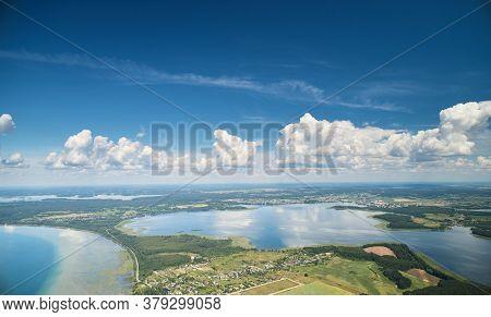 Naroch Lake Aerial Drone View