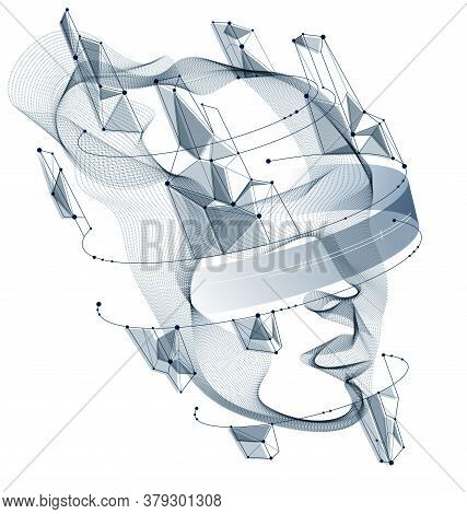 Futuristic Idea Of Digital Software Soul Of Machine, Spirit Of Technocratic Time Evolution Period, H