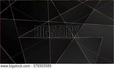 Black Luxury Triangular Pattern. Elegant Dark Platinum Chic Shapes Poster Silver Vip Rich Geometric