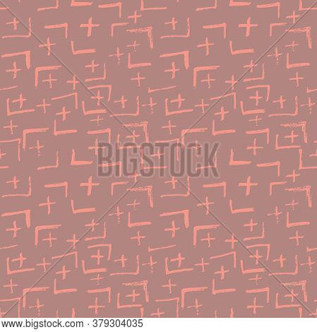 Tie Dye Japanese Geometric Autumn Seamless Pattern. Boho Tie Dye Ikat Batik. Geo Wabi Sabi Tradition