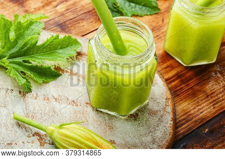 Fresh,green Smoothie With Smoothie