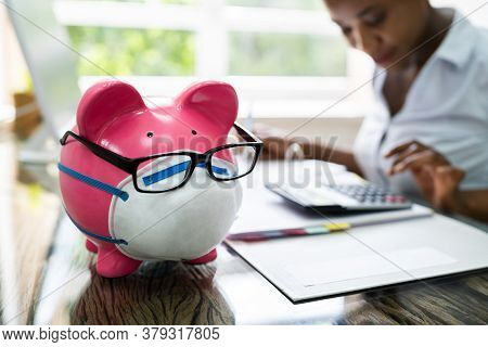 African American Woman Chartered Accountant Money Budgeting