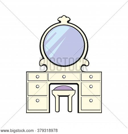 Dresser Icon. Isometric Illustration Of Dresser Vector Icon For Web.