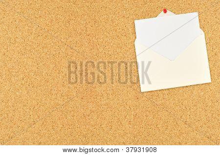 Note On Cork Board