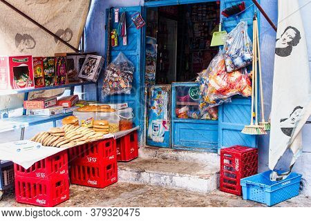 Chefchaouen, Morocco - Oct 14, 2019: Medina Of Chefchaouen. Chefchaouen Or Chaouen Is A City In Nort