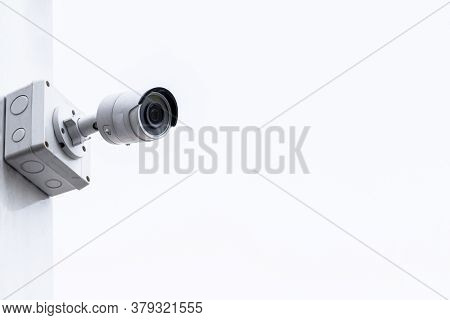 Cctv Camera Isolated On A White Background