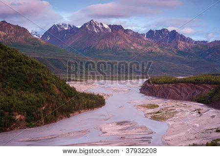 Alaskan Mountain River
