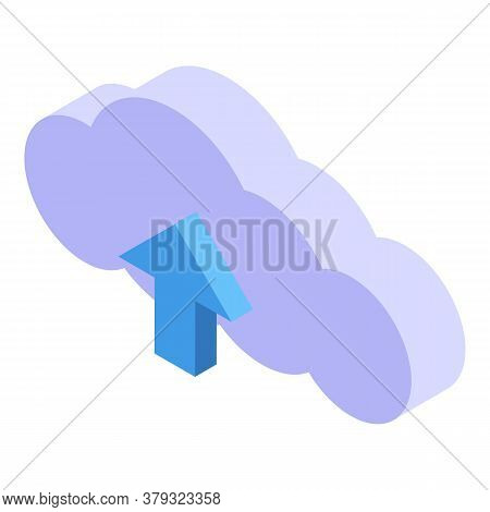 Personal Information Data Cloud Icon. Isometric Of Personal Information Data Cloud Vector Icon For W