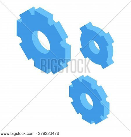 Personal Information Gear System Icon. Isometric Of Personal Information Gear System Vector Icon For